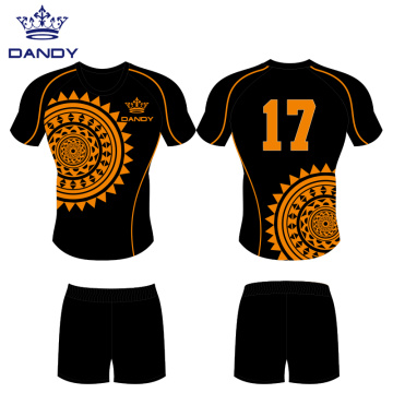 Heat printed rugby club jerseys