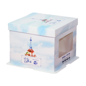 Clear Window Custom Printed Birthday Cake Box Paper