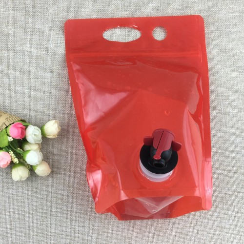zipper top Bag-in-Box with butterfly valve juice packaging