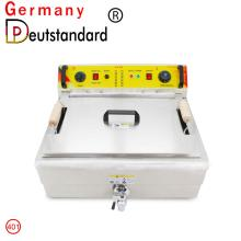 Commercial deep fryer machine with 19.5L capacity for good sale