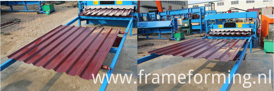 Double Layer for Glazed and Trapezoidal Roof Tile Machine