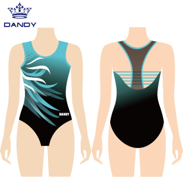 Sublimated sleeveless training leotards