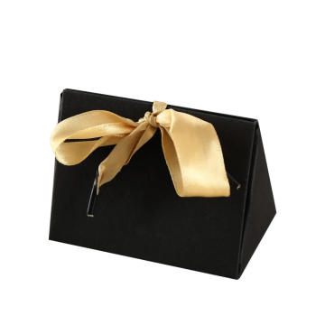 Printed Logo  Gift Paper Box With Ribbon