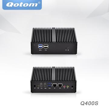 Qotom Mini PC Intel Core i3 i5 Industrial Micro PC Barebone System Dual core dual lan OPNfsense Desktop Mini Computer x86
