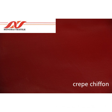 Crepe chiffon red fabric 75D*75D 57'' 75GSM