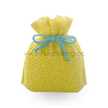 Japan Yellow Temple Drawstring Gift School Lunch Bag