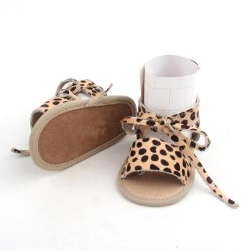 Summer Toddler Leopard Genuine Leather Sandals