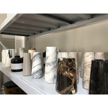 white marble decorative vases