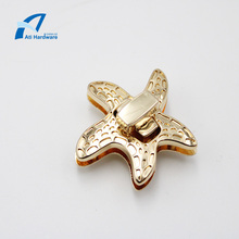Beautiful Starfish Shape Metal Turn Lock  Accessories