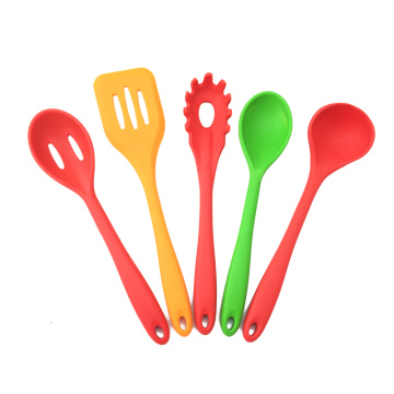colorful silicone kitchen spoon cooking utensils set