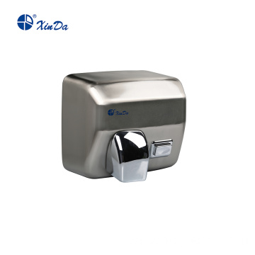 Modern button type brushed hand dryer