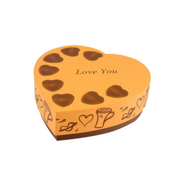 Custom Chocolate Heart Shape Paper Gift Box