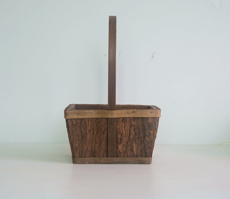 rectangular wood bark collecting basket-1