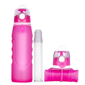 Portable Foldable Water Bottle with Filter