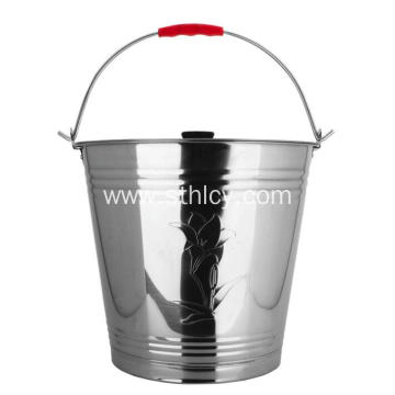 410 Stainless Steel Soup Bucket with Handle