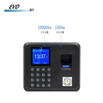 Color screen attendance machine