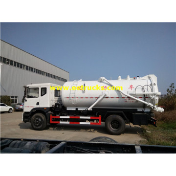 11000L 180HP Excrement Suction Tanker Trucks