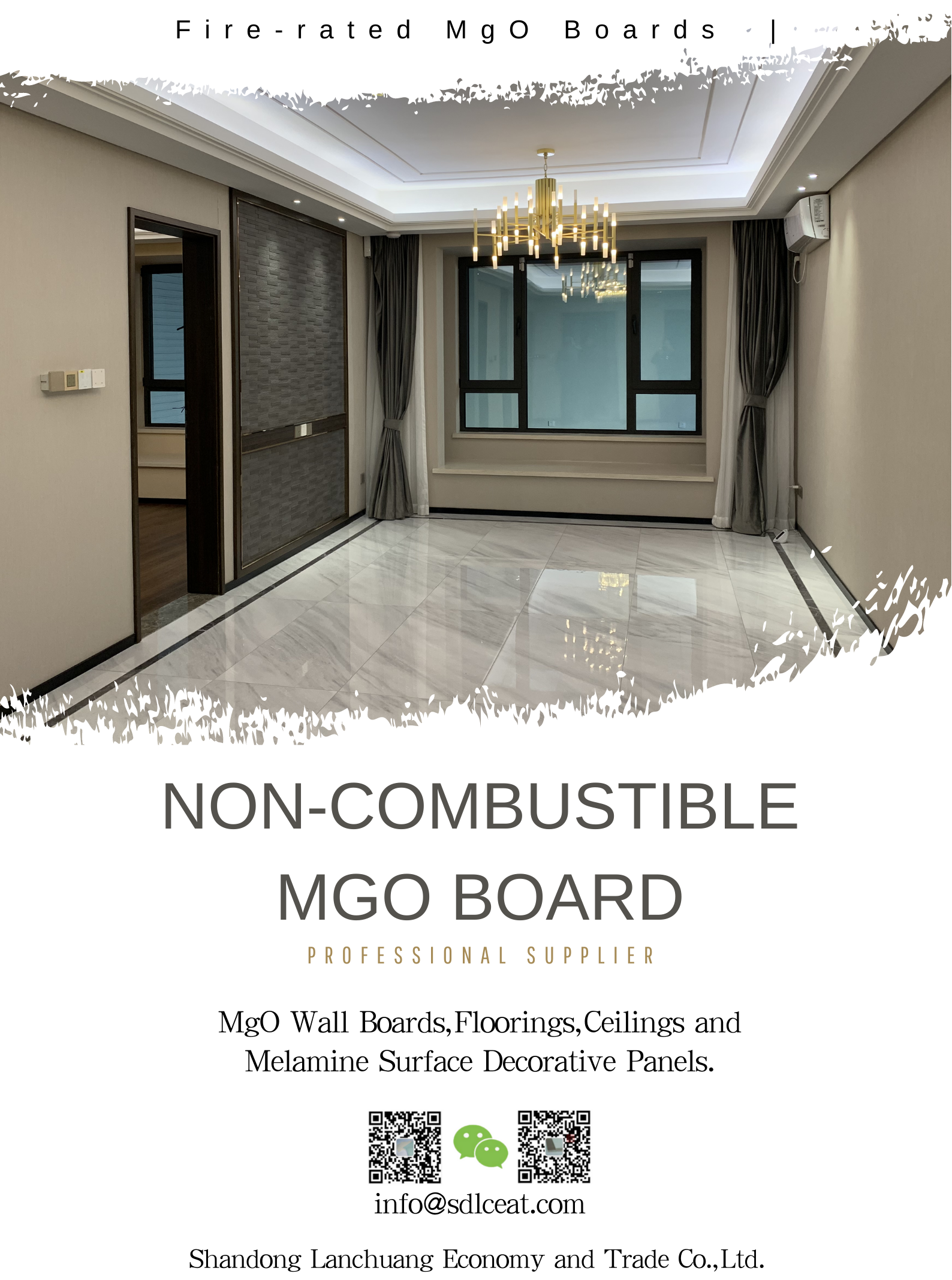Fire-rated MgO Ceiling