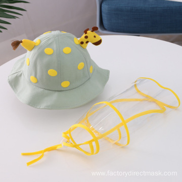 Green Giraffe Anti-droplet Hat for Children