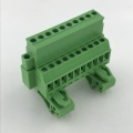 Din rail mounted terminal block with fixed screws