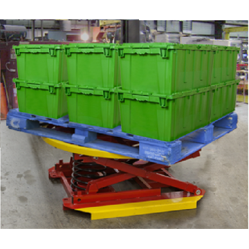 Powered pallet positioner equipment