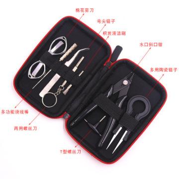X9 Mini Case Coil DIY Tool Kit Bag Tweezers Plier Coil Jig Winding For Box Mod Electronic Cigarette Vaper Accessories