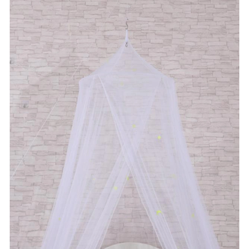 White mosquito net for indoor use