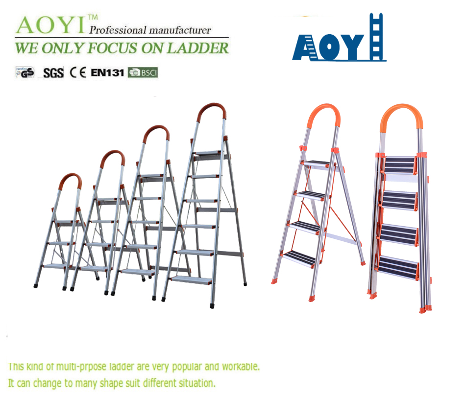 Aluminum household D type ladder