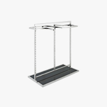 Luxury Stainless Steel Store Clothing Fixtures Display Stand