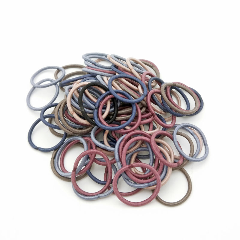 100Pcs/Lot Size 2.2cm Elastic Hair Bands Mini Rubber Rope Ponytail Holder for Kids Girl Accessories