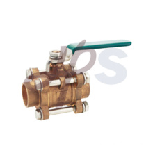 Brass forging 3PCS ball valve welding connection