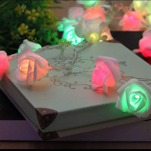 Multicolor Twinkle LED-Lichterketten mit Blume