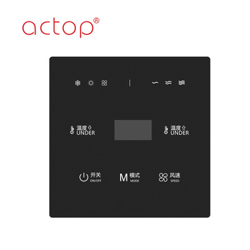 hotel touch glass smart wall switch panel