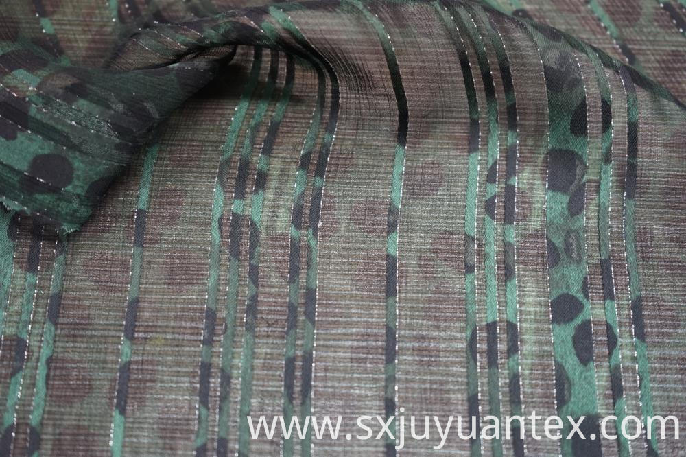 50D Vicose Lurex Stripe Dobby Fabric