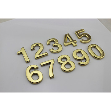 Flat Cut Brass House Numbers Door Signs