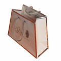 Cosmetic Stone paper gift bags with handles