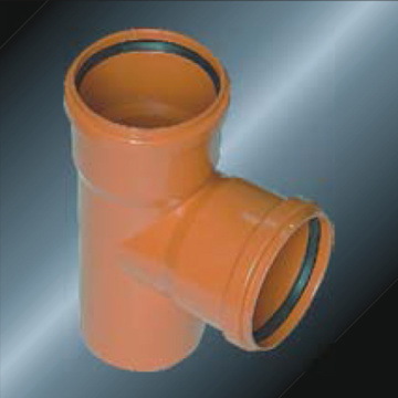 Din Drainage Upvc Tee Rubber spigot Grey Color