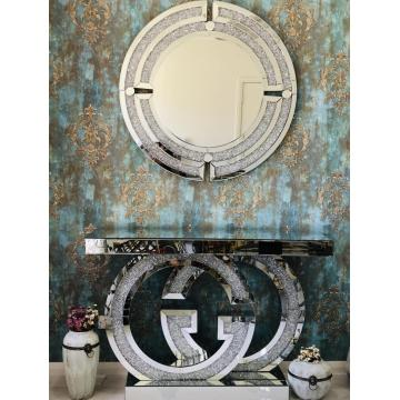 GG mirrored console and mirror set