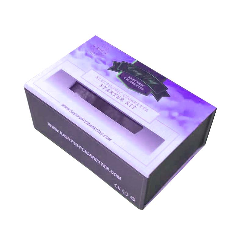 E-cigarette starter kit gift box packaging