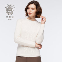 Women's Cashmere Crew Neck Handknitted Sweater