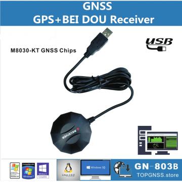 USB GPS GLONASS BDS receiver USB module chip GNSS receiver antenna, replac BU353S4, dual USB protocol 0183NMEA