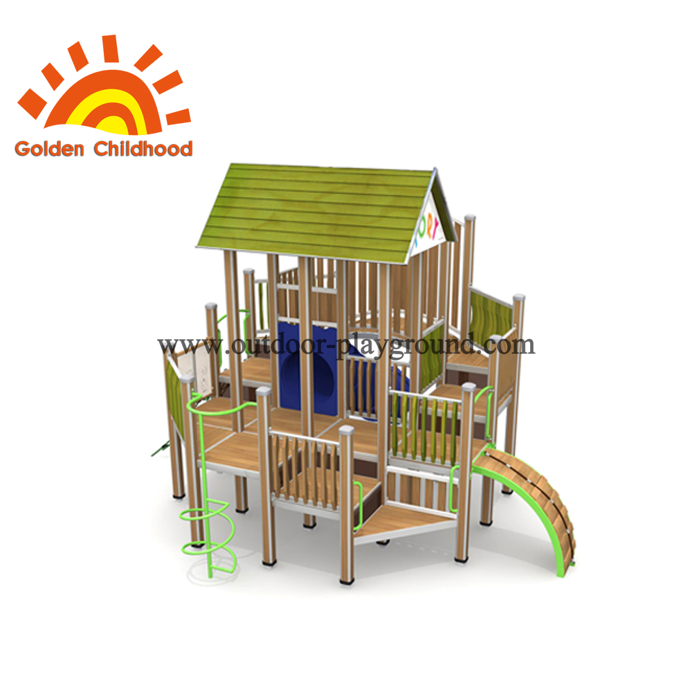 Wooden Backyard Playground Playhouse For Sale