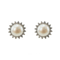 925 Silver Freshwater Pearl Stud Earrings