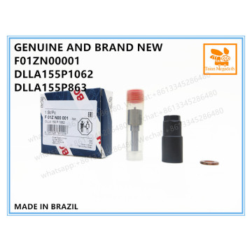 GENUINE AND BRAND NEW DIESEL COMMON RAIL FUEL INJECTOR REPAIR KIT NOZZLE WITH NUT F01ZN00001, DLLA155P1062, DLLA155P863