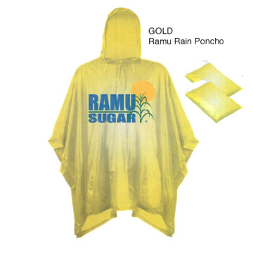 Waterproof adults 100% PVC rain poncho