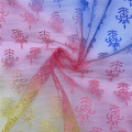 Polyester Printed Iridescent Tulle Fabric for Skirt Material