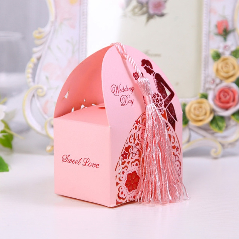 Laser cut wedding favour candy chocolate box
