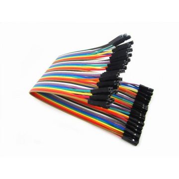 40pcs=1ROW in Row Dupont Cable 20 cm 2.54mm 1pin 1p-1p Female to Female Jumper Wire Wholesale