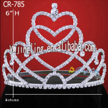 Wholesale Heart Rhinestone Pageant Crowns And Tiaras