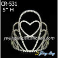 Pageant Crown Heart Design CR-531